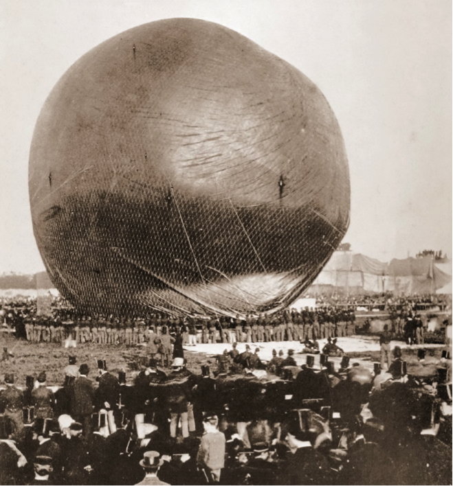 Nadar's enormous balloon.